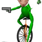 Dat Boi Meme | WHEN TRUMP PLAY MINECRAFT FOR THE FIRST TIME | image tagged in memes,dat boi | made w/ Imgflip meme maker