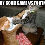 Two cats fighting for real | EVERY GOOD GAME VS FORTNITE | image tagged in two cats fighting for real | made w/ Imgflip meme maker