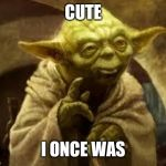yoda | CUTE I ONCE WAS | image tagged in yoda | made w/ Imgflip meme maker