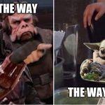 Mandalorian Yelling At Baby Yoda Blank Template Imgflip