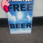FREE BEER not really | GOOD ONE LOCAL PUB!! GOOD ONE!! | image tagged in free beer not really | made w/ Imgflip meme maker