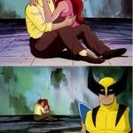 Sad wolverine left out of party meme