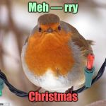 And a crabby New Year's | Meh — rry Christmas | image tagged in memes,bah humbug,merry christmas,happy new year,derp,meanwhile on imgflip | made w/ Imgflip meme maker