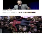 Carefully he's a hero | image tagged in carefully he's a hero | made w/ Imgflip meme maker