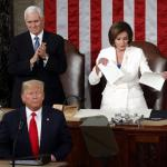 Nancy Pelosi rips Trump speech meme