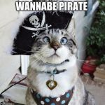 Spangles Meme | WANNABE PIRATE | image tagged in memes,spangles | made w/ Imgflip meme maker