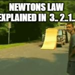He slept through science class on Newtons law | NEWTONS LAW EXPLAINED IN  3.. 2..1.. | image tagged in gifs,bike,wreck,wipe out | made w/ Imgflip video-to-gif maker