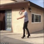 Wait for it........ | image tagged in gifs,high heels | made w/ Imgflip video-to-gif maker