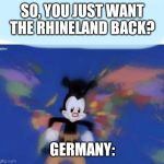 United States , Canada.. | SO, YOU JUST WANT THE RHINELAND BACK? GERMANY: | image tagged in united states  canada | made w/ Imgflip meme maker
