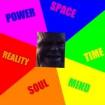 "Blank Colored Background Meme | THE ANSWER TO THE QUESTION ""WHAT DID THANOS SEE WHEN HE SNAPPED POWER SPACE SOUL REALITY MIND TIME 