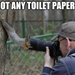 Jehovas Witness Squirrel Meme | GOT ANY TOILET PAPER? | image tagged in memes,jehovas witness squirrel | made w/ Imgflip meme maker