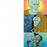 handsome and ugly squidward (extended version) meme