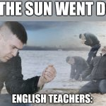"Guy with sand in the hands of despair | ""AND THE SUN WENT DOWN"" ENGLISH TEACHERS: 
