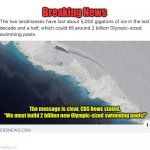 "CBS News Breaking Story! | Breaking News The message is clear, CBS News stated. ""We must build 2 billion new Olympic-sized swimming pools!"" 