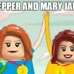 adventure time with pepper and mary jane | PEPPER AND MARY JANE | image tagged in adventure time,pepper and mary jane | made w/ Imgflip meme maker
