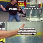 Flex Tape | HITTING SOMEONE IN THE HEAD SORRY SORRY SORRY SORRY SORRY  SORRY SORRY SORRY SORRY SORRY SORRY SORRY SORRY SORRY SORRY SORRY SORRY SORRY 5 Y | image tagged in flex tape,memes,phil swift,phil swift flex tape,sorry,children | made w/ Imgflip meme maker