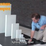 Domino Effect | Roman Empire two brothers fighting each other | image tagged in domino effect,history,rome | made w/ Imgflip meme maker
