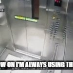 Not so fast. Give me your phone or your life. | FROM NOW ON I'M ALWAYS USING THE STAIRS | image tagged in gifs,crazy | made w/ Imgflip video-to-gif maker