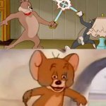 Tom and Jerry swordfight meme