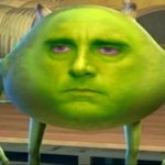Mike wazowski but he's high meme