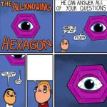 All knowing hexagon (ORIGINAL) meme