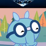 Diamond Under Water!!! | That's super satisfied! | image tagged in happy sniffles htf,memes,diamonds,satisfying,happy tree friends,htf | made w/ Imgflip meme maker