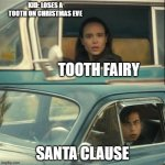 Vanya and Five | TOOTH FAIRY SANTA CLAUSE KID: LOSES A TOOTH ON CHRISTMAS EVE | image tagged in vanya and five | made w/ Imgflip meme maker