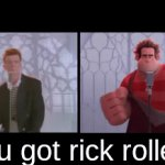 YOU GOT RICC ROLLED | you got rick rolled! | image tagged in gifs,rick rolled | made w/ Imgflip video-to-gif maker