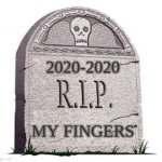 my finger realy got bent     :( | 2020-2020 MY FINGERS | image tagged in rip | made w/ Imgflip meme maker