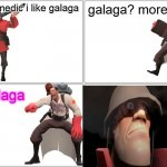 ANOTHER HEY MEDIC MEME!!! | hey medic i like galaga galaga? more like gaylaga | image tagged in memes,blank comic panel 2x2,funny,hey medic,galaga | made w/ Imgflip meme maker