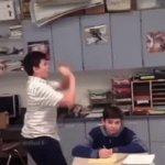 *Dabs with murderous intent | image tagged in gifs,funny,memes,funny memes,dab,teacher | made w/ Imgflip video-to-gif maker