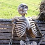 Waiting Skeleton Meme | I'M WAITING FOR MY FRIEND TO VISIT | image tagged in memes,waiting skeleton | made w/ Imgflip meme maker