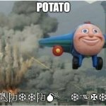 Life be like | POTATO BOTTOM TEXT | image tagged in flying away from chaos | made w/ Imgflip meme maker