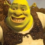 Looking at the internet in class | WHEN YOU LOOK AT THE INTERNET IN CLASSES AND YOUR MOM COMES DOWN THE STAIRS. | image tagged in smiling shrek | made w/ Imgflip meme maker