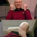 Picard - YES - SMH | OH NO SHE DIDN'T YES... SHE DID | image tagged in picard - yes - smh,memes,funny,oh no | made w/ Imgflip meme maker