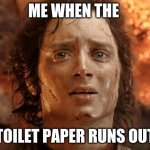 2020 toilet paper | ME WHEN THE TOILET PAPER RUNS OUT | image tagged in memes,it's finally over | made w/ Imgflip meme maker