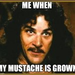 princess bride | ME WHEN MY MUSTACHE IS GROWN | image tagged in princess bride | made w/ Imgflip meme maker