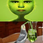 Cursed image: The Grinch | image tagged in unsee juice,cursed image,the grinch,memes,funny,merry christmas | made w/ Imgflip meme maker