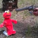 Elmo gets shot meme