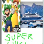 Please Nintendo, make this a real game! | LUIGI AND DAISY GO ON A CRUISE | image tagged in blank switch game,luigi,princess daisy,cruise ship,super mario | made w/ Imgflip meme maker