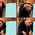 he forgot to write down the plan. poor gru. he met a GRUsome fate | gru, there is no plan | image tagged in memes,gru's plan | made w/ Imgflip meme maker