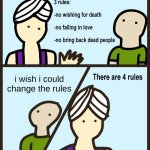 rlly | i wish i could change the rules | image tagged in genie rules meme | made w/ Imgflip meme maker