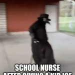 fr tho | SCHOOL NURSE AFTER GIVING A KID ICE | image tagged in gifs,fun,funny,funny memes,memes,plague doctor | made w/ Imgflip video-to-gif maker