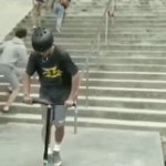 Scooter trick | image tagged in gifs,memes,funny,tricks,stunts,scooter | made w/ Imgflip video-to-gif maker