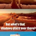 Simba Shadowy Place | WE OWN ALL THAT THE LIGHT TOUCHES CHOCCY MILK | image tagged in memes,simba shadowy place | made w/ Imgflip meme maker