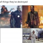 its so badass when men stand in front things they destroyed meme