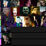 My personal Joker tier list | image tagged in tier list | made w/ Imgflip meme maker