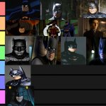 Batman tier list | image tagged in tier list | made w/ Imgflip meme maker
