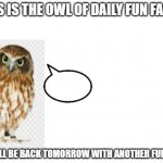 the owl of fun facts meme