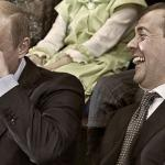 Putin laughing with medvedev meme